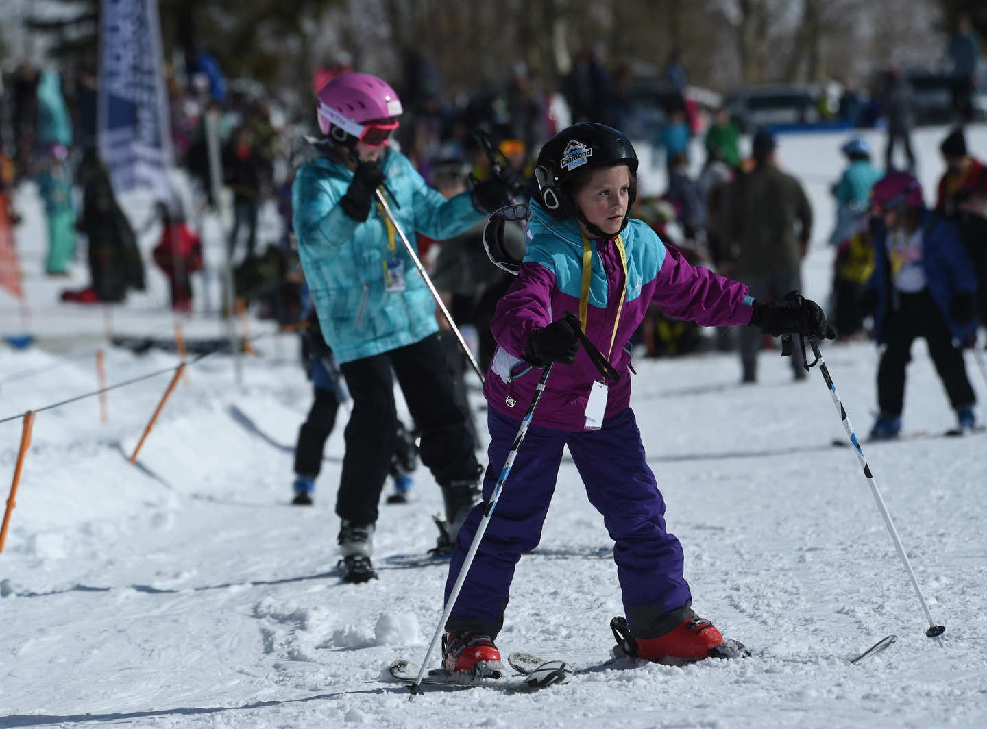 Opening day for the Sky Tavern Jr. Ski Program near Reno on Jan. 26, 2019.