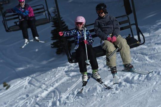 Opening day for the Sky Tavern Jr. Ski Program near Reno on Jan. 26, 2019.