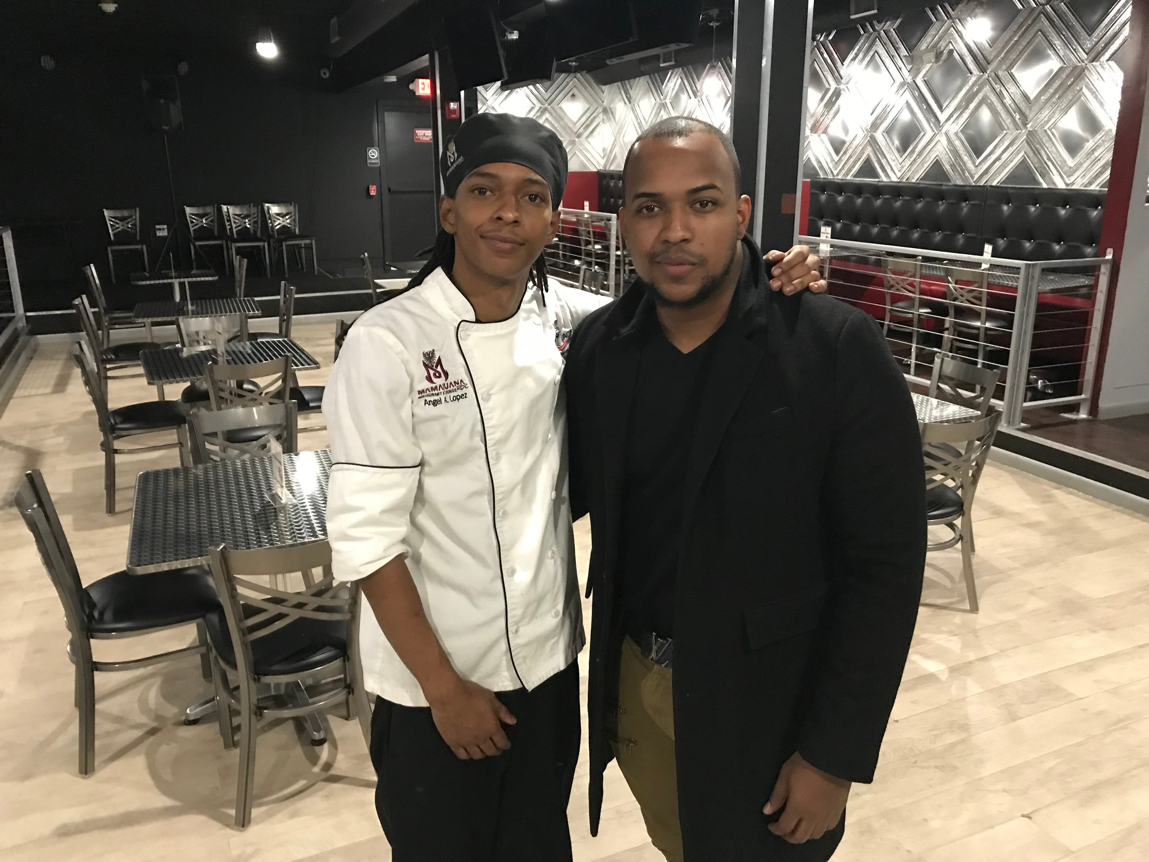 Marcos Lopez, right, is the owner of MamaJuana Restaurant and Lounge. His brother, Angel Lopez, is head chef.