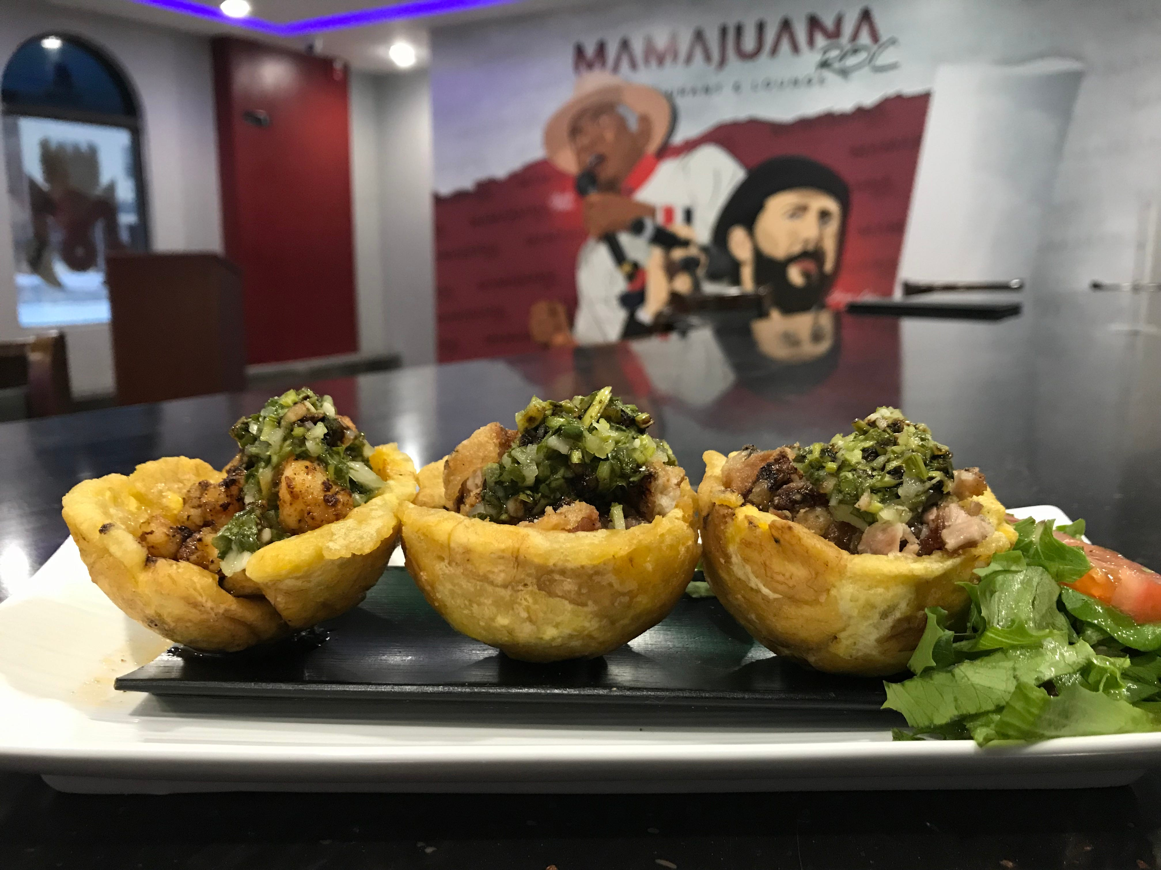 Plantains are formed into cups for the canasta de platano appetizer at MamaJuana Restaurant and Lounge in Rochester.