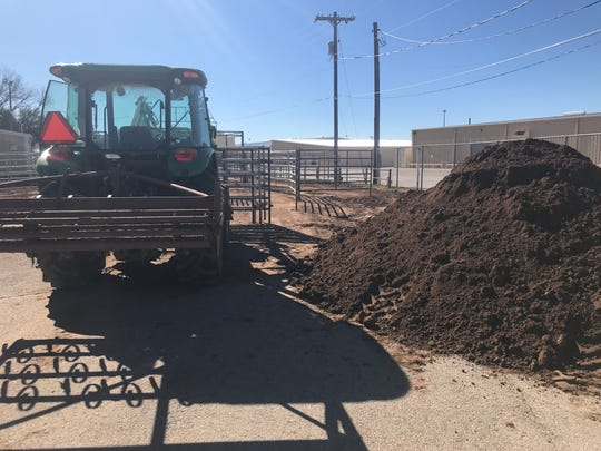 Tons of fresh dirt has been trucked into the San Angelo Coliseum as part of the annual preparations for the San Angelo Stock Show and Rodeo.