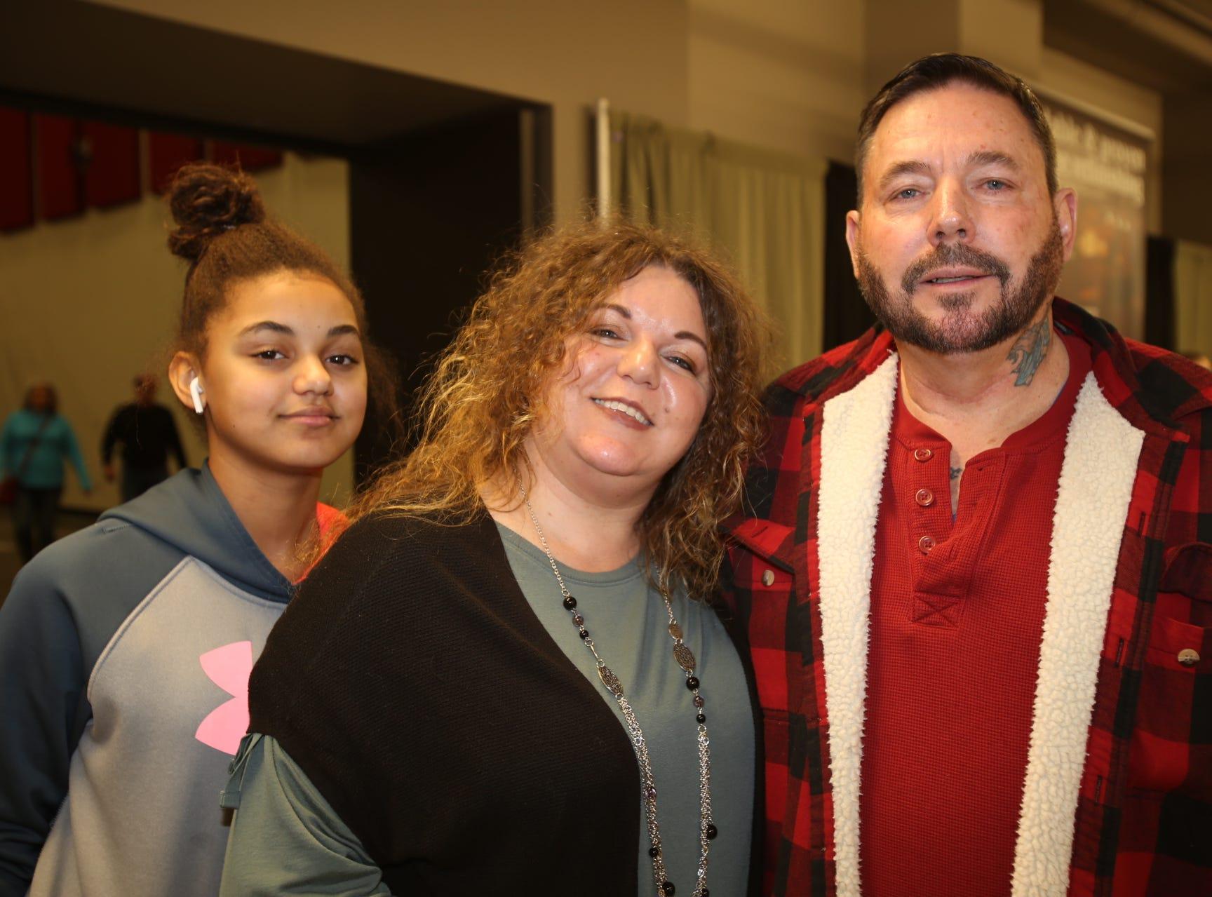 Hailee, Marilee, and Ricky Daugherity