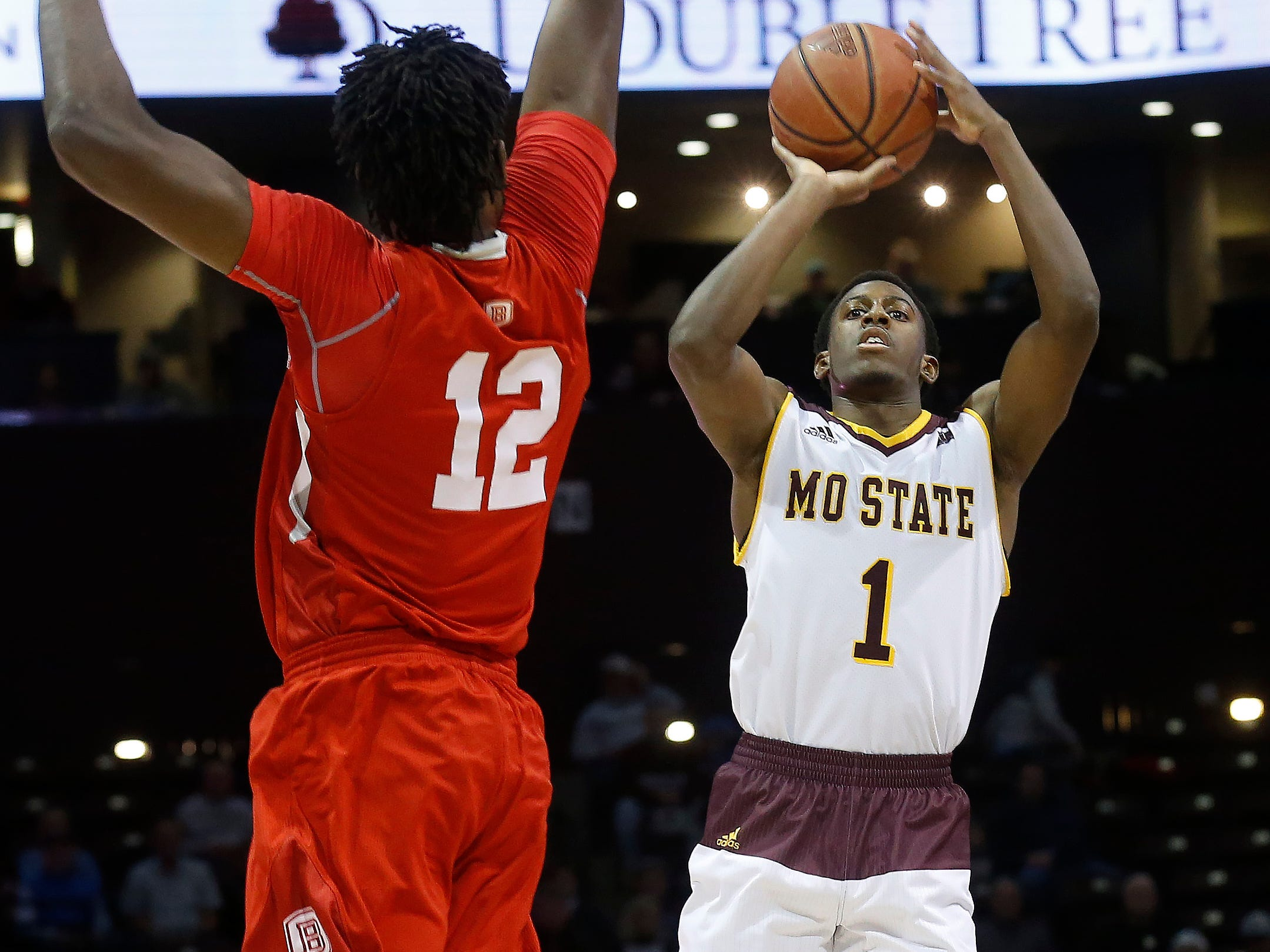 Scenes from the Missouri State Bears game against Bradley at JQH Arena on Saturday, Jan. 26, 2019.