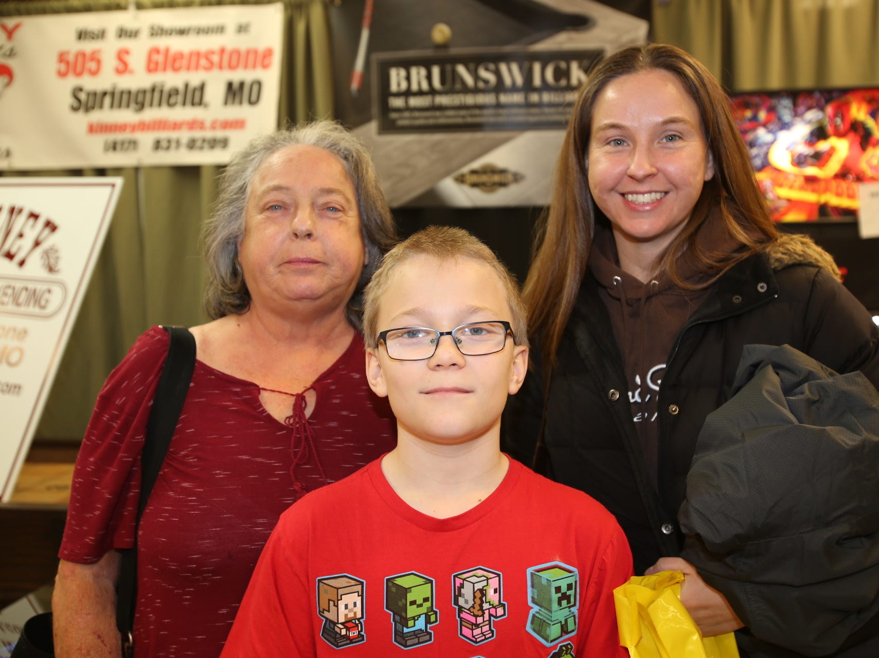 Vickie and Billie Russell and Remington Bixler