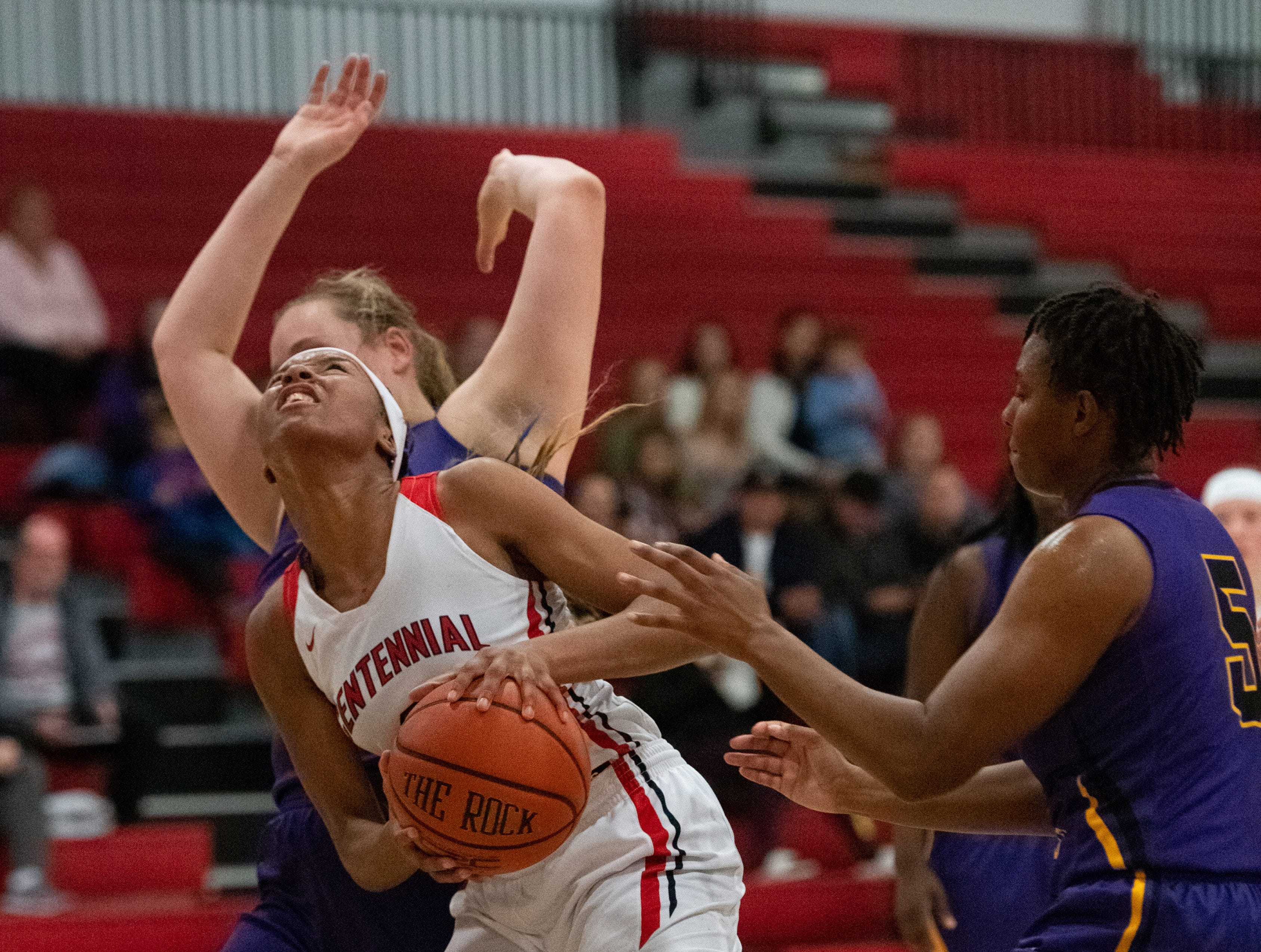 The high school girls basketball game between Centennial and Fort Pierce Central at Centennial High School on Friday, January 25, 2019 in Port St. Lucie.