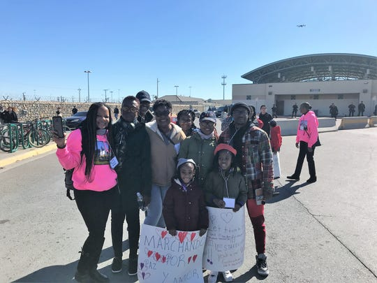A Dallas church group led by their pastor participated in the march for immigration reform Saturday in Downtown El Paso. The march started at San Jacinto Plaza and ended at the Paso del Norte International Bridge.