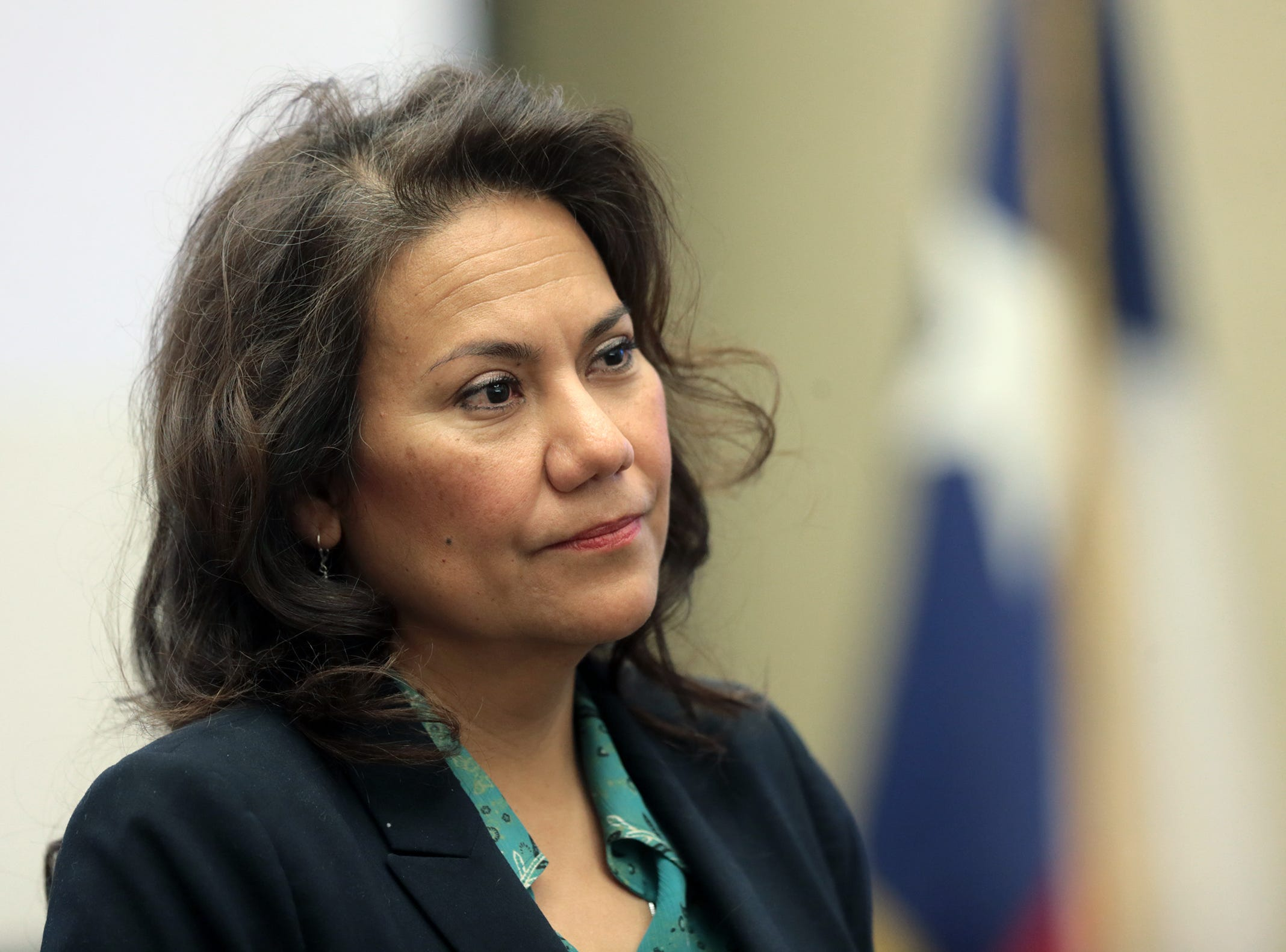 U.S. Rep. Veronica Escobar, D-El Paso, held her first monthly town hall meeting at the El Paso Community Foundation. Escobar discussed the government shutdown, immigration and veteran issues.