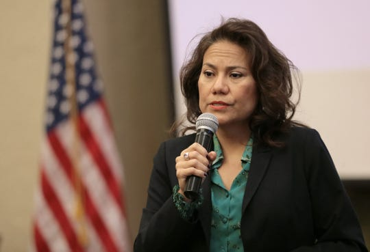 U.S. Rep. Veronica Escobar held her first monthly town hall meeting at the El Paso Community Foundation. Escobar discussed the government shutdown, immigration and veteran issues.
