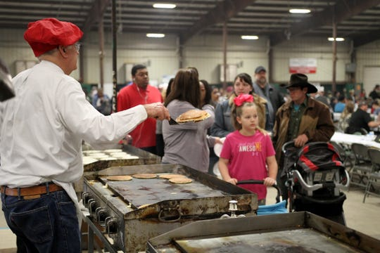 Thousands of people attended the 63rd University Kiwanis Club Pancake Festival Saturday, Jan. 26, 2019, at the J.S. Bridwell Agricultural Center.