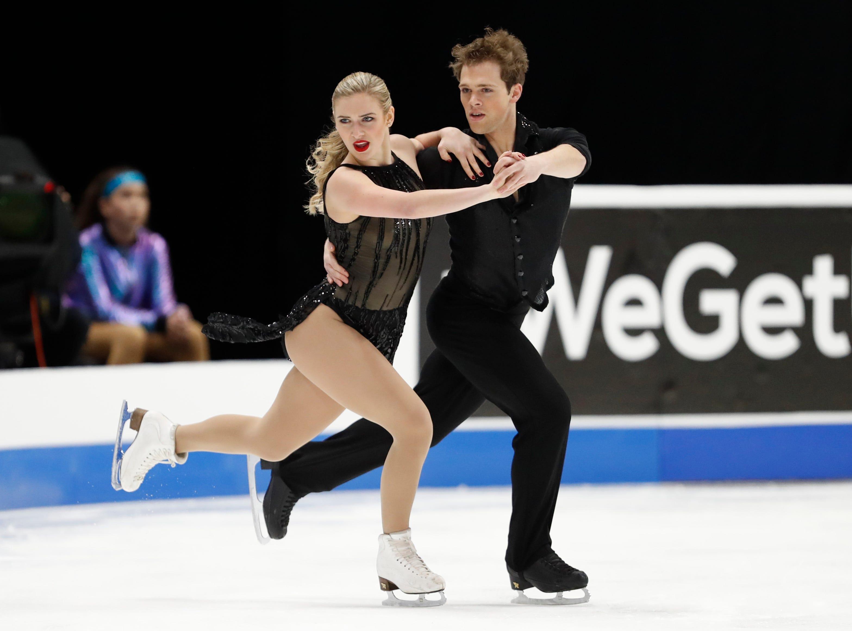 Rachel Parsons and Michael Parsons perform in the rhythm dance program.