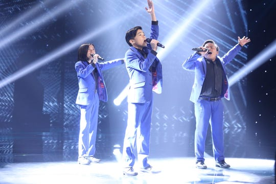 The TNT Boys, young singers from the Philippines, perform on CBS's new variety competition, 'The World's Best.'