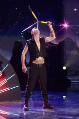 Australia's Space Cowboy, one of the competitors in CBS's 'The World's Best,' is known for sword swallowing and chainsaw-juggling while riding a unicycle.