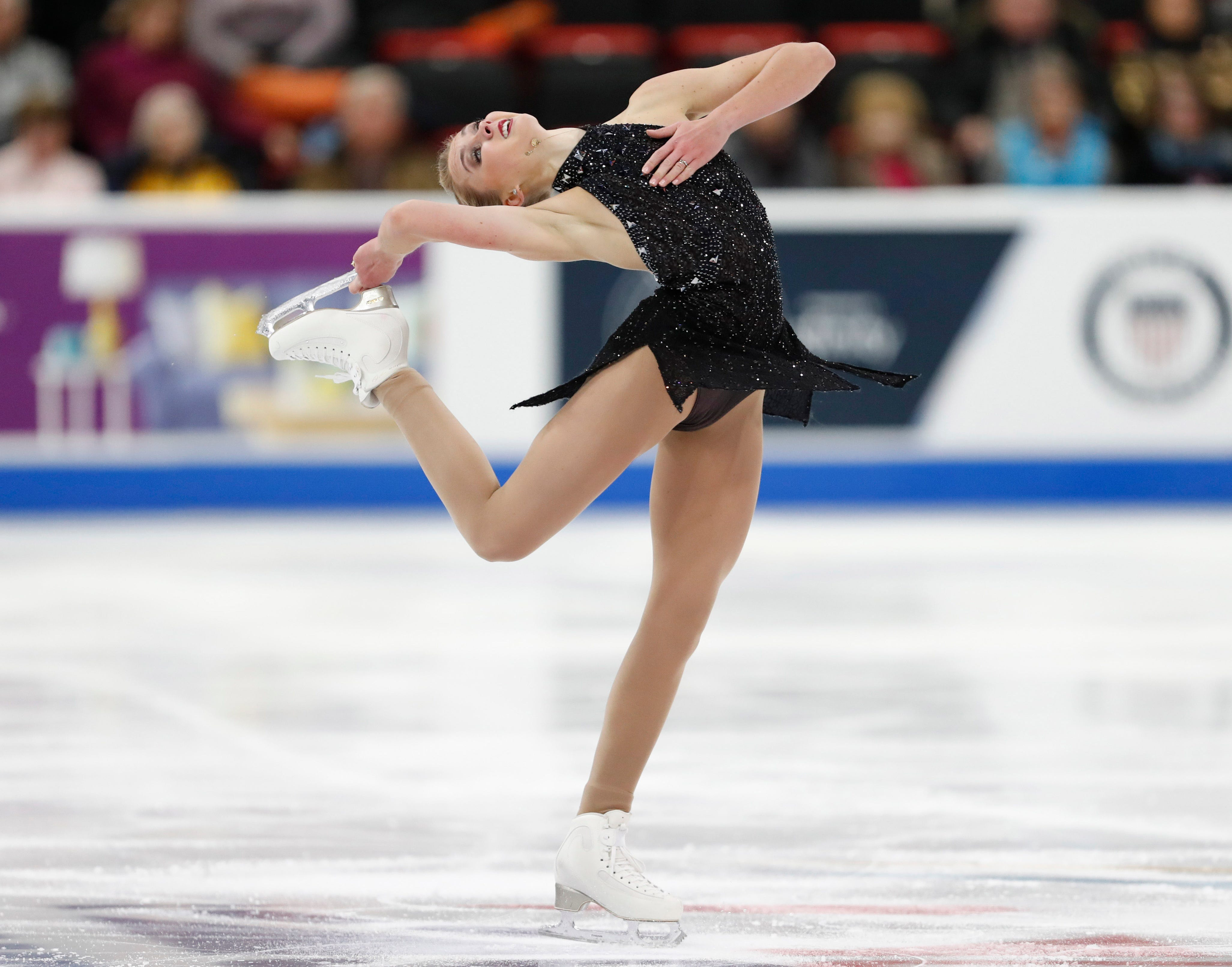 Heidi Munger made her second career appearance at the U.S. figure skating championships.