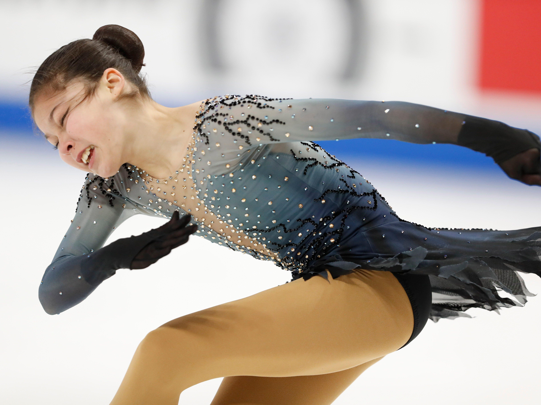 Alysa Liu performs in the ladies free skate program.