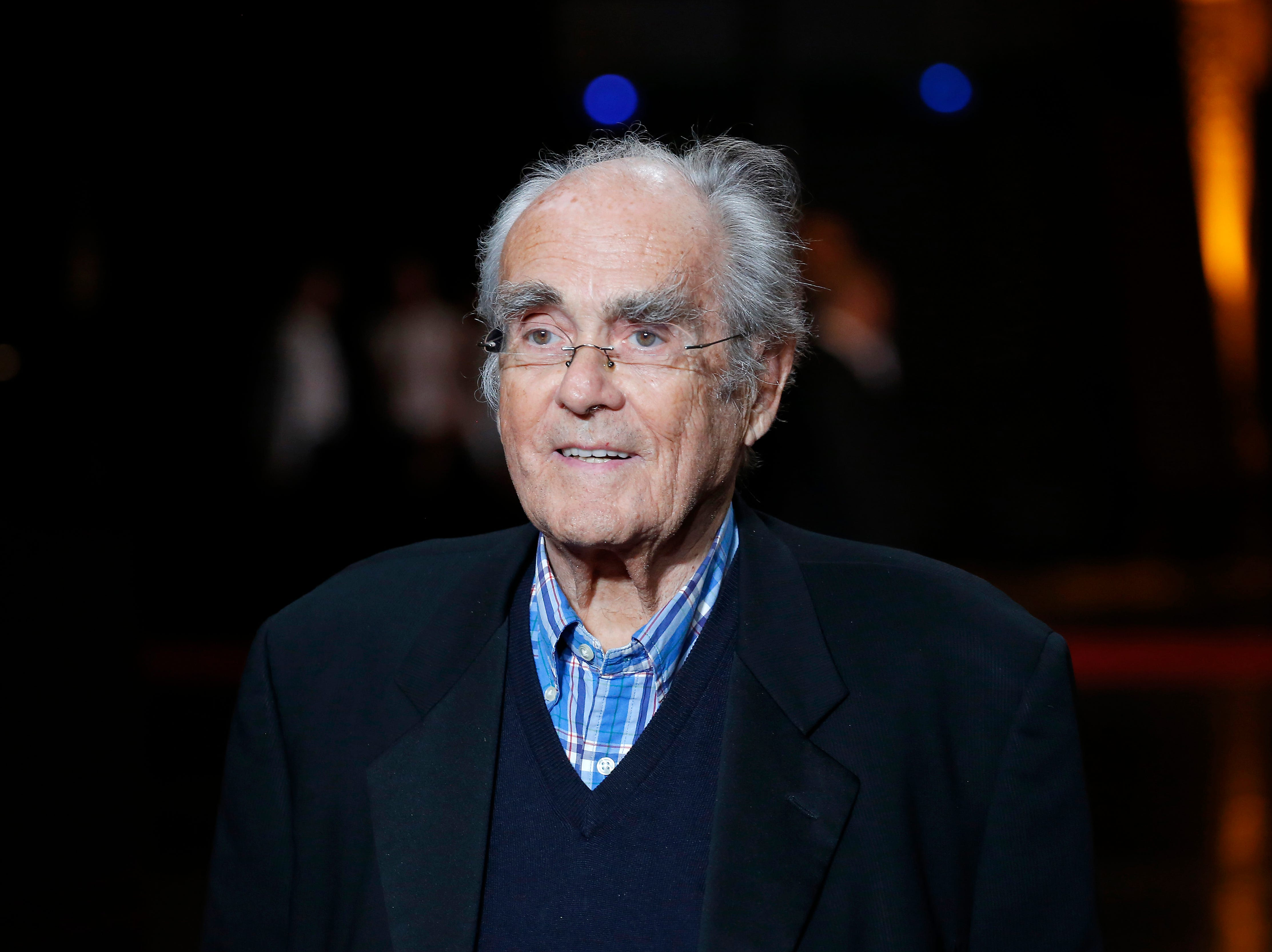 French conductor Michel Legrand arrives at the opening ceremony of the 6th Lumiere Festival, in Lyon, France on Oct. 13, 2014.