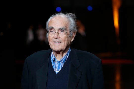 08604359e994a French conductor Michel Legrand arrives at the opening ceremony of the 6th  Lumiere Festival