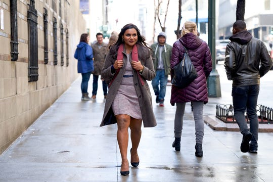 """Molly Patel (Mindy Kaling) is an overly earnest, overachieving comedy writer in """"Late Night,"""" who's brought on as a diversity hire for a fading talk-show host."""