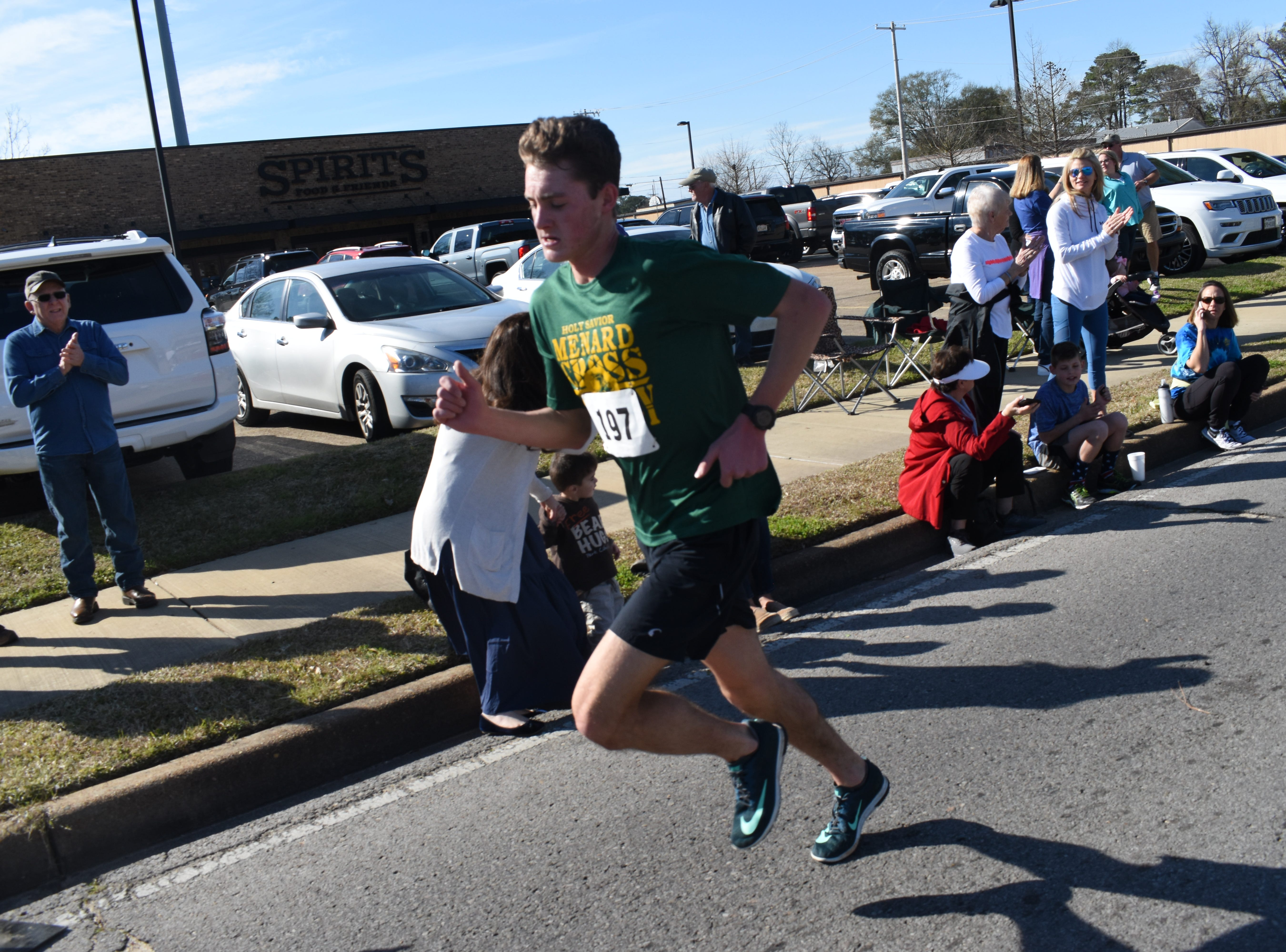 Ben Beard, 17, won the 19th annual Spirits 5K with a time of 16:40.5. Over 212 runners participated in the 19th annual Spirits 5K and 1-mile Fun Run benefitting the Manna House Saturday, Jan. 26, 2019. About 75 runners participated in a new event held this year - the Beer Run. Runners had to drink four beers and sprint to the finish line. Proceeds from the runs benefit the Manna House which serves free meals year round to anyone who needs a meal regardless of income. Over 200 people a day are fed. The Manna House opened in 1990 and was the vision of Father Gerad Foley.