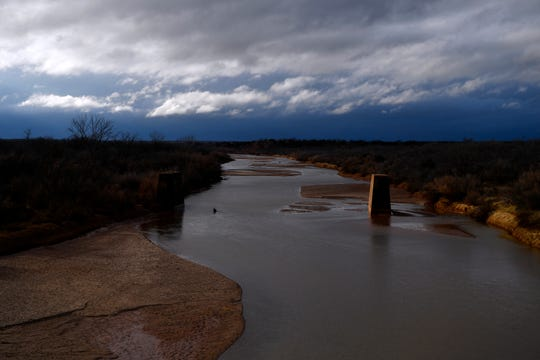 Clouds gather west of the Brazos River in Knox County Dec. 26.
