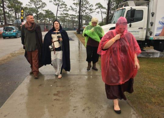 Heavy rains dampened the ongoing Brevard Renaissance Festival.