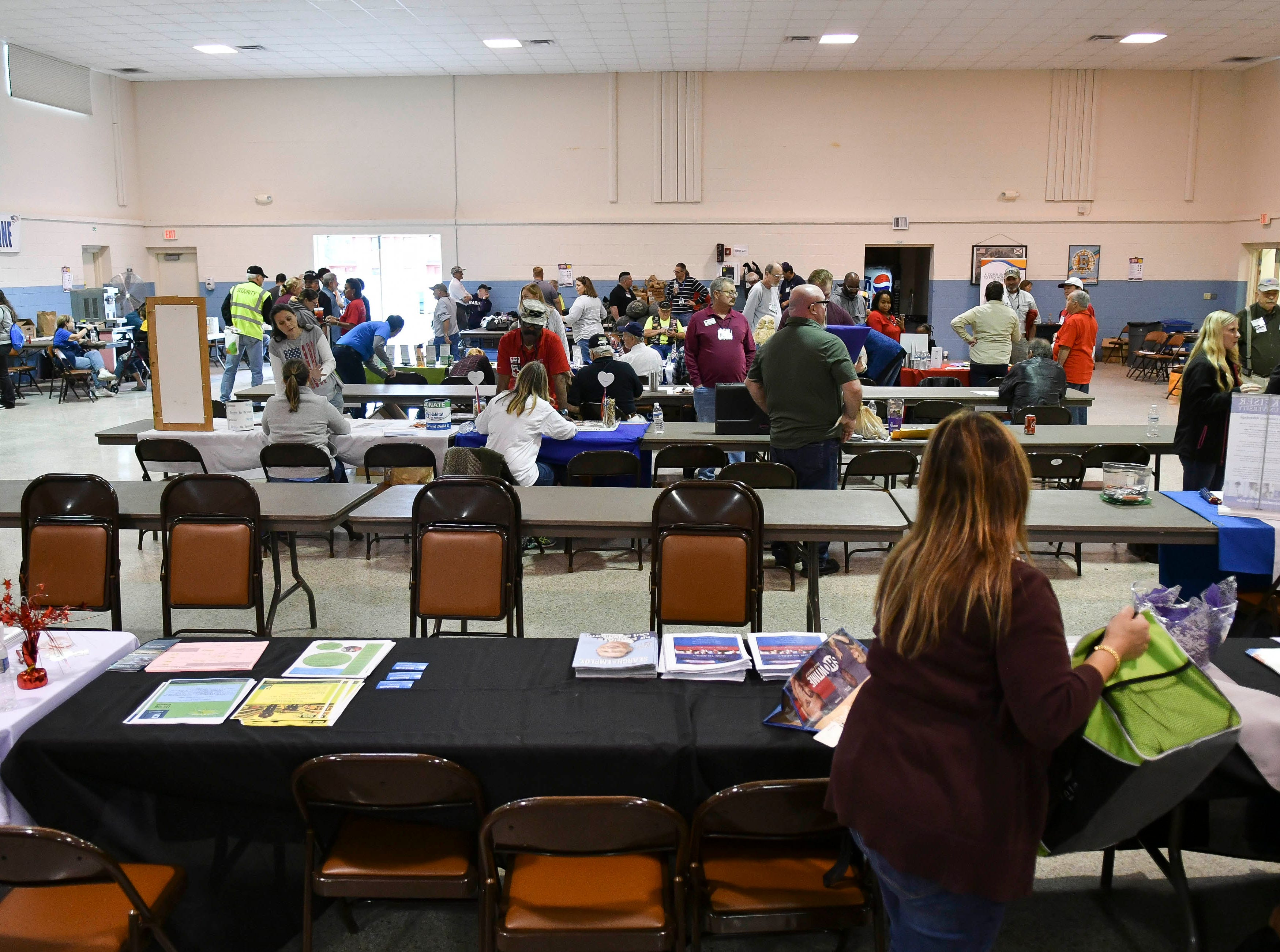 Homeless veterans get assistance during Saturday's Stand Down for Veterans at Cocoa Armory.