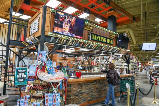 Jungle Jim's in Eastgate features a tasting bar with plenty of local and exotic craft beers on the shelves and on tap.