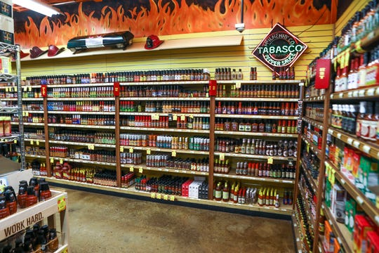 Jungle Jim's in Eastgate has an immense selection of hot sauces and rubs.
