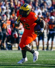 North running back Karan Higdon of Michigan finished with 18 yards on five carries.
