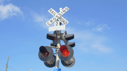 Michigan State Police said a 2016 Chrysler 200 was headed westbound on West Albain. The driver, a 29-year-old Canton woman, tried to stop once she saw the railroad crossing signal flashing red. But because  she the woman was driving too fast for the snowy, icy conditions, she wasn't able to stop the car until it reached the train tracks.