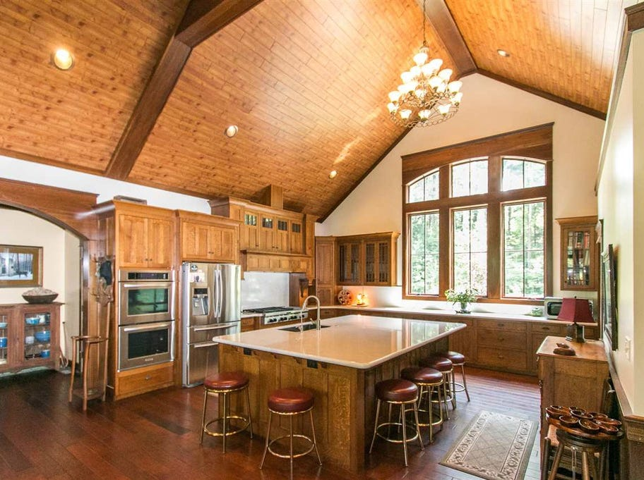 If you're the outdoorsy type, this custom-built lodge-style home on 41 acres in Boonville might be your dream come true.
