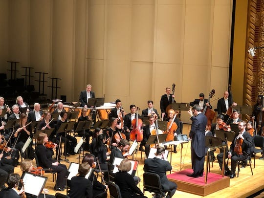 Guest conductor Robert Moody leads the Evansville Philharmonic Orchestra Saturday.
