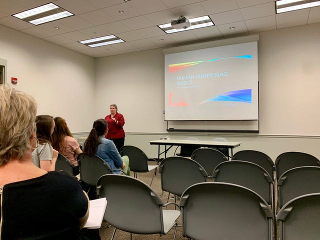 Local investigators inform students about reality of human
