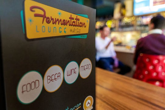 Fermentation Lounge offers a wide variety of beer, wine and mead