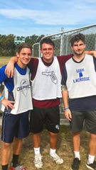 FSU sophomore lacrosse player Ben Wiegel's (center) passion for lacrosse has extended outside the field.