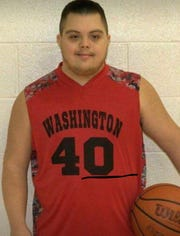 Jalen Pigg was born with Down syndrome and participates in Special Olympics.