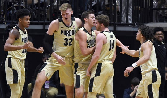 Action from Purdue's 73-63 upset win over Michigan State in West Lafayette on Sunday January 27, 2019.