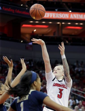 Louisville's Sam Feuhring nails the mid-range jumper. 