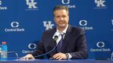 Kentucky basketball coach John Calipari discusses his team's big win over Kansas on Saturday.