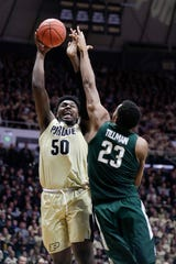 Purdue's Trevion Williams and MSU's Xavier Tillman figure to be a key matchup Sunday in West Lafayette.