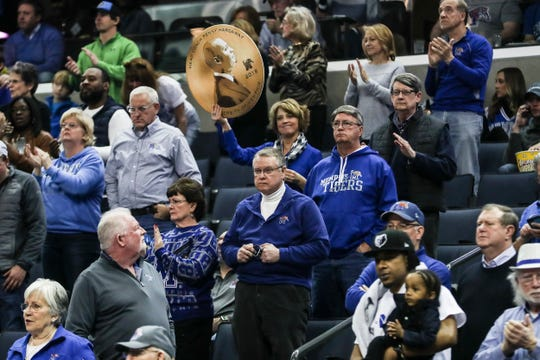 January 27 2019 - Memphis Tigers fans are seen during Sunday afternoon's game against UCF at the FedExForum in Memphis.