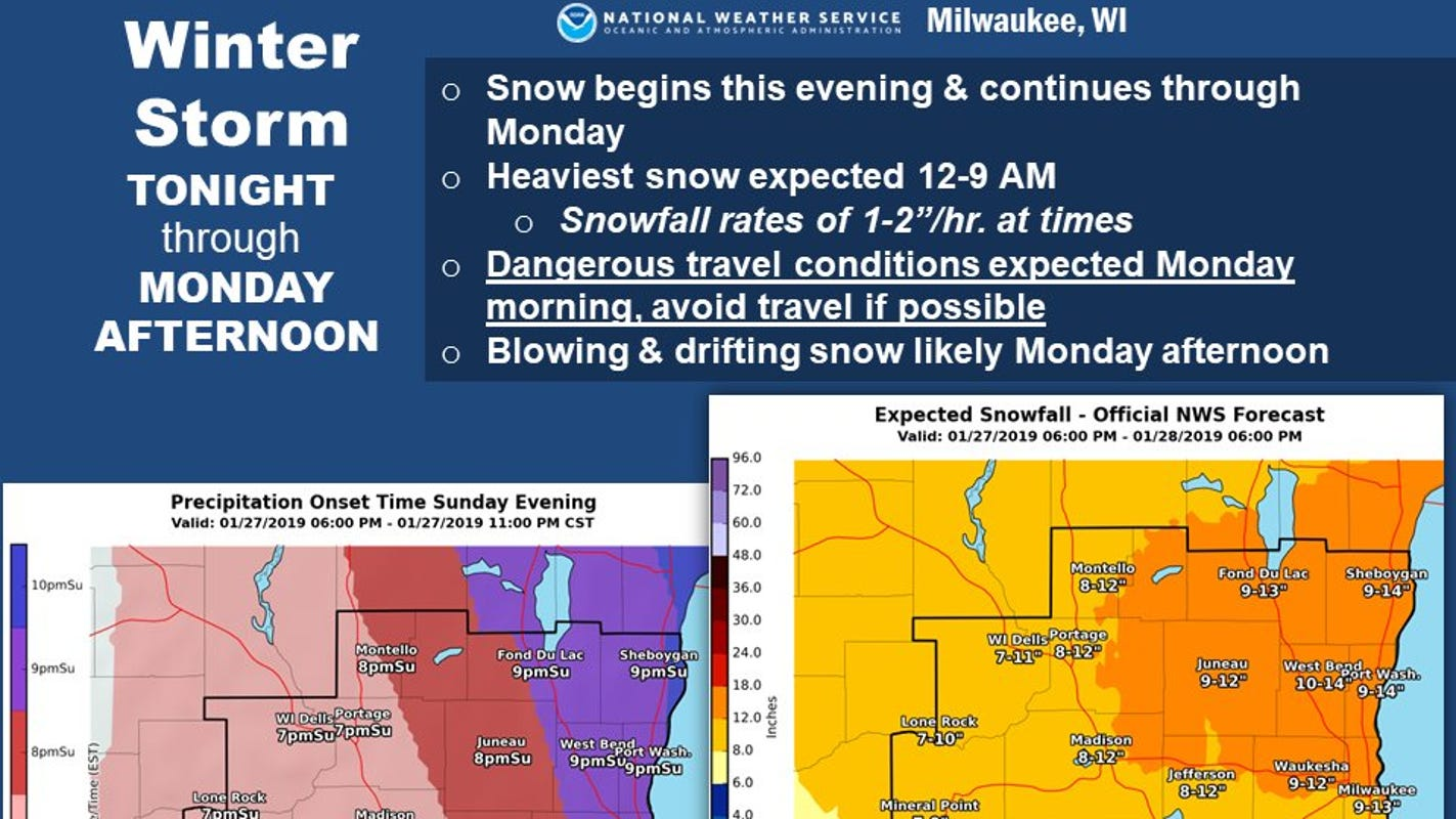 Wisconsin storm could dump a foot or more of snow, then deadly cold