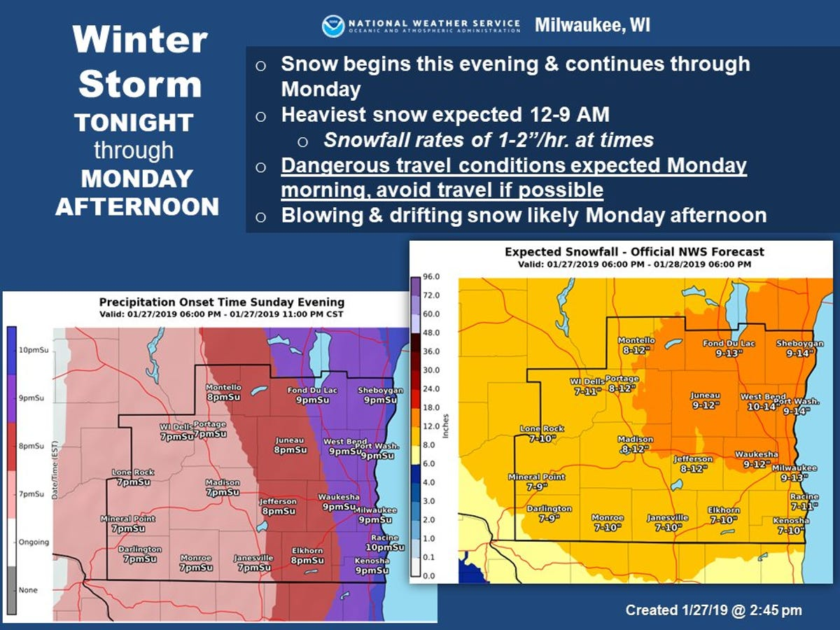 Wisconsin snowstorm: Milwaukee wakes up to blizzard-like