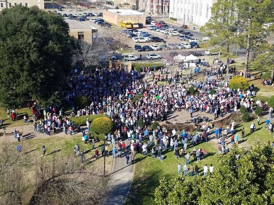 Right to Life March and rally in Monroe and West Monroe on Sunday