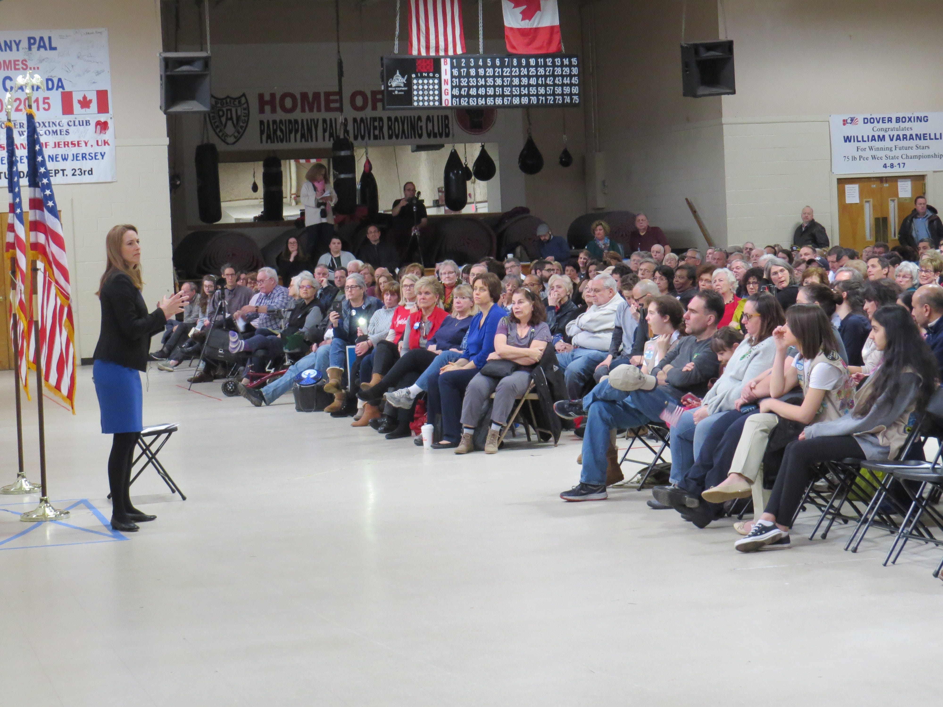 Rep. Mikie Sherrill (D-11th District) host her first public town hall at the Parsippany PAL Building. Jan. 27, 2019.