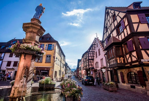 The town square in Turckheim, France.