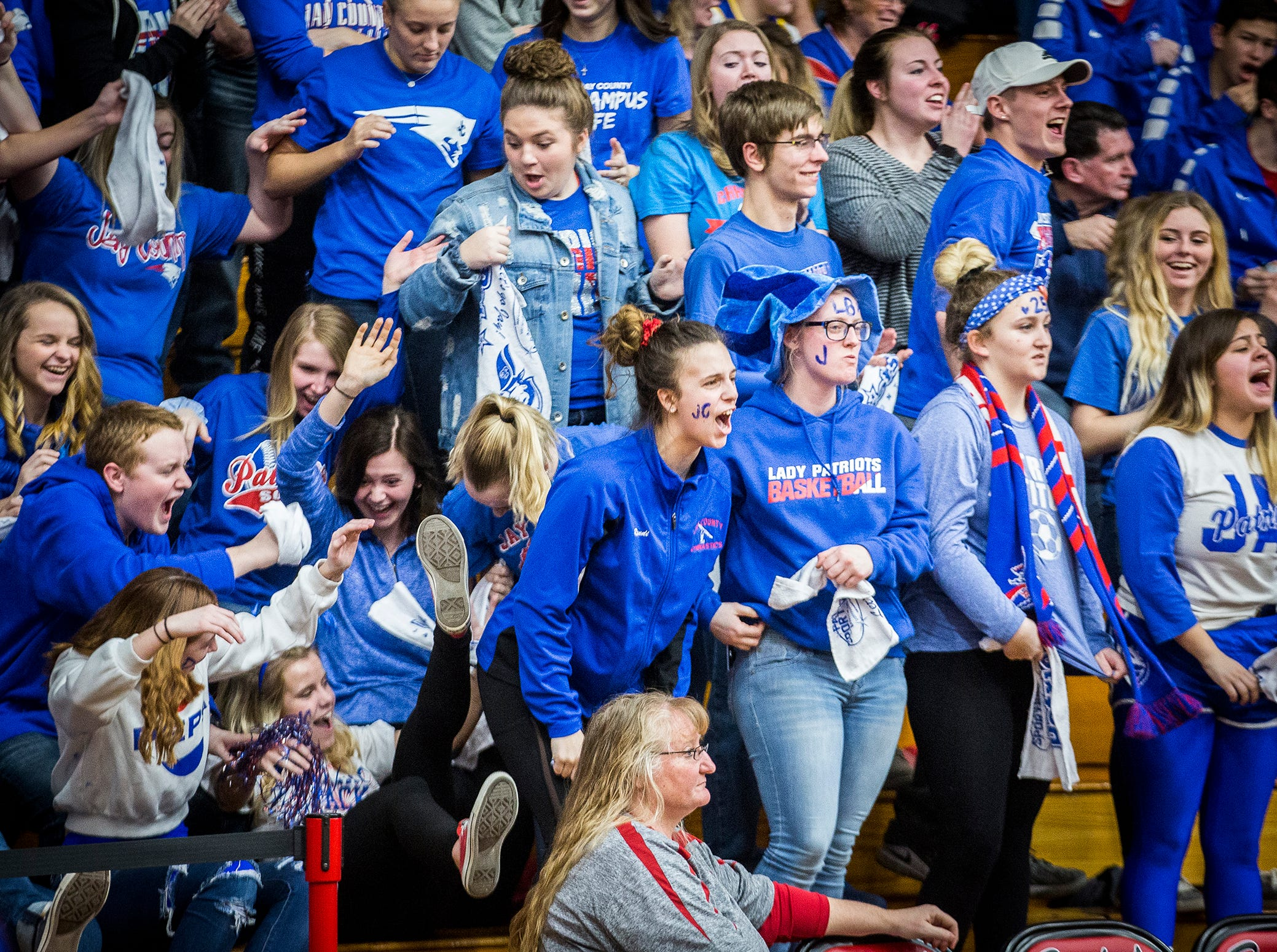 Blackford faces off against Jay County during their game at Blackford High School Saturday, Jan. 26, 2019.