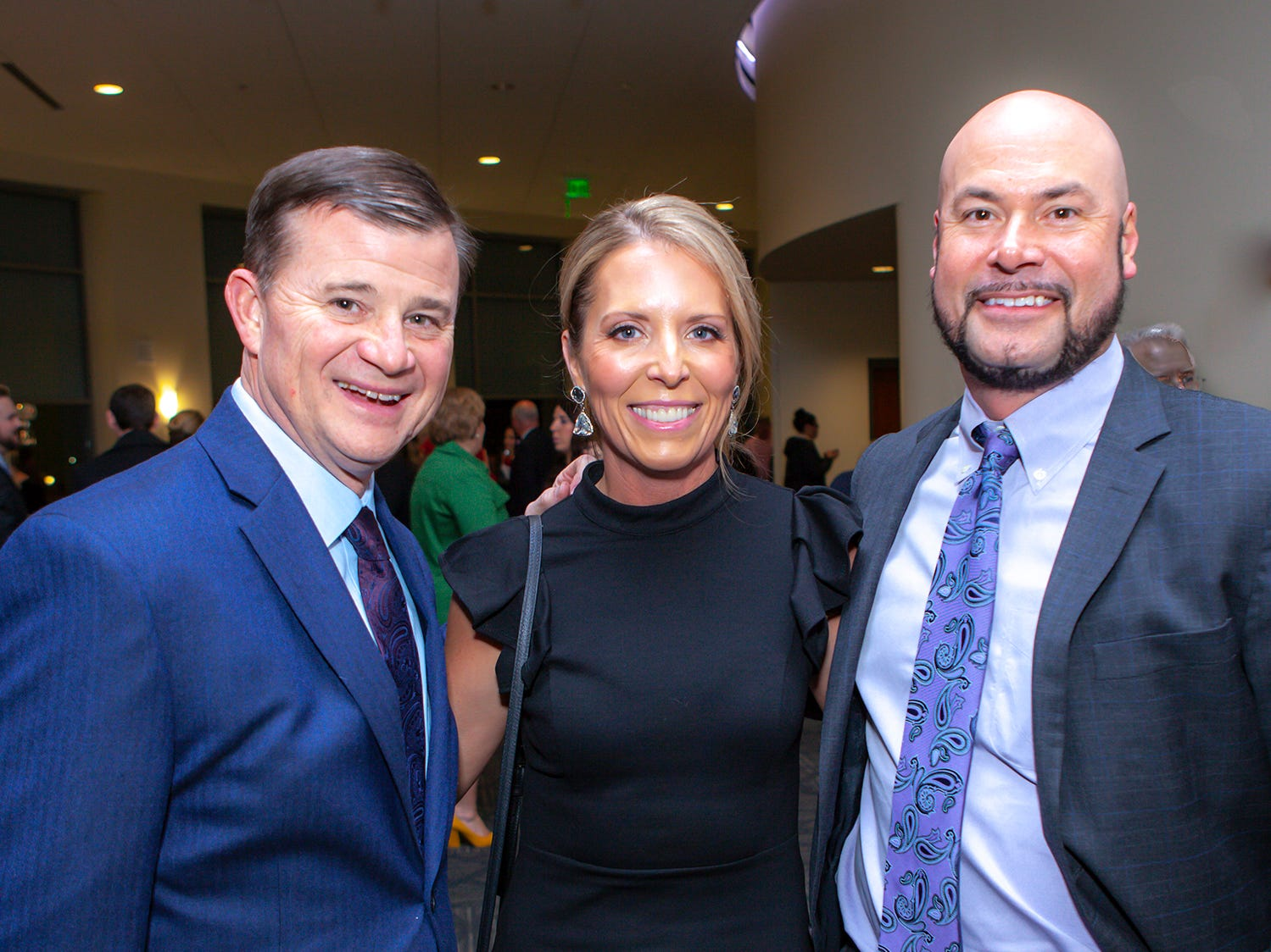 David Blackburn with Amy and Chad Hill at the 2019 Excellence in Education Gala, hosted by the City Schools Foundation on Friday, Jan. 25, 2019 at Stones River Country Club in Murfreesboro.
