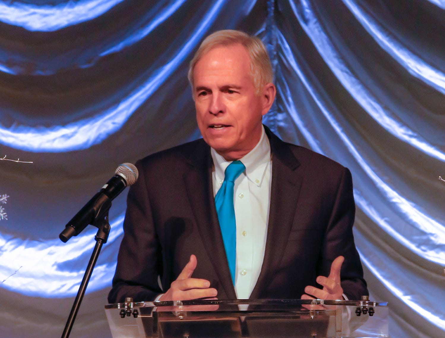 Former U.S. Rep. Bart Gordon speaks at the 2019 Excellence in Education Gala, hosted by the City Schools Foundation on Friday, Jan. 25, 2019 at Stones River Country Club in Murfreesboro.