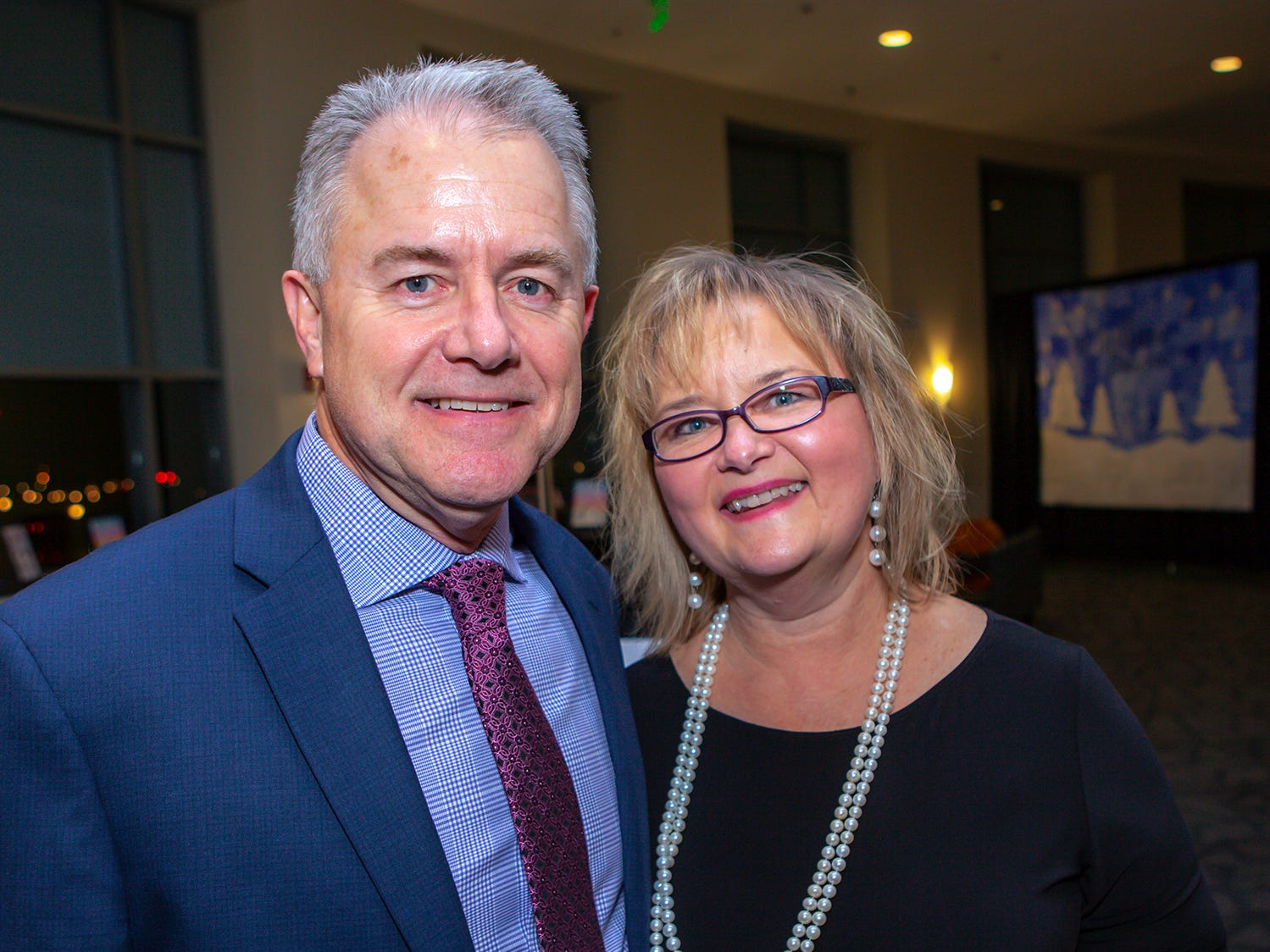 Tim Tipps and Lisa Trail at the 2019 Excellence in Education Gala, hosted by the City Schools Foundation on Friday, Jan. 25, 2019 at Stones River Country Club in Murfreesboro.