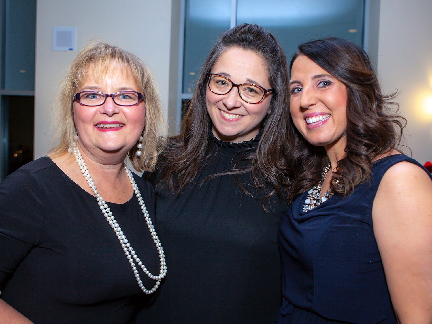 Lisa Trail, Lea Bartch and Tori Carrat the 2019 Excellence in Education Gala, hosted by the City Schools Foundation on Friday, Jan. 25, 2019 at Stones River Country Club in Murfreesboro.